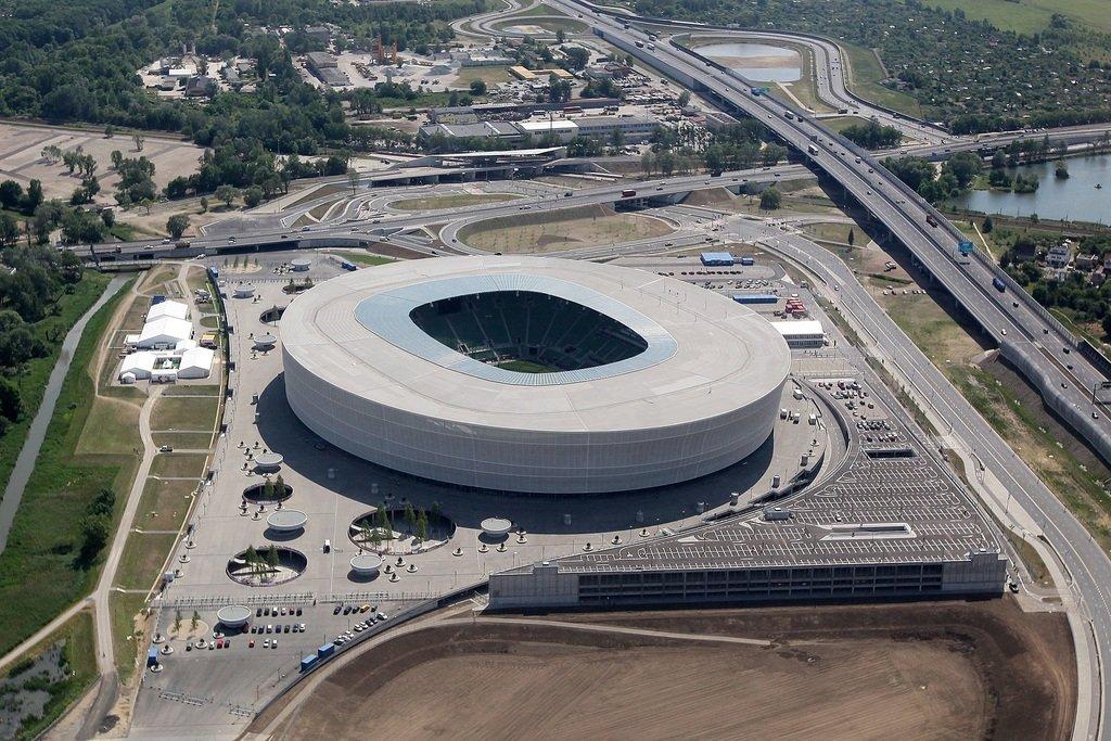 Вид на стадион с высоты